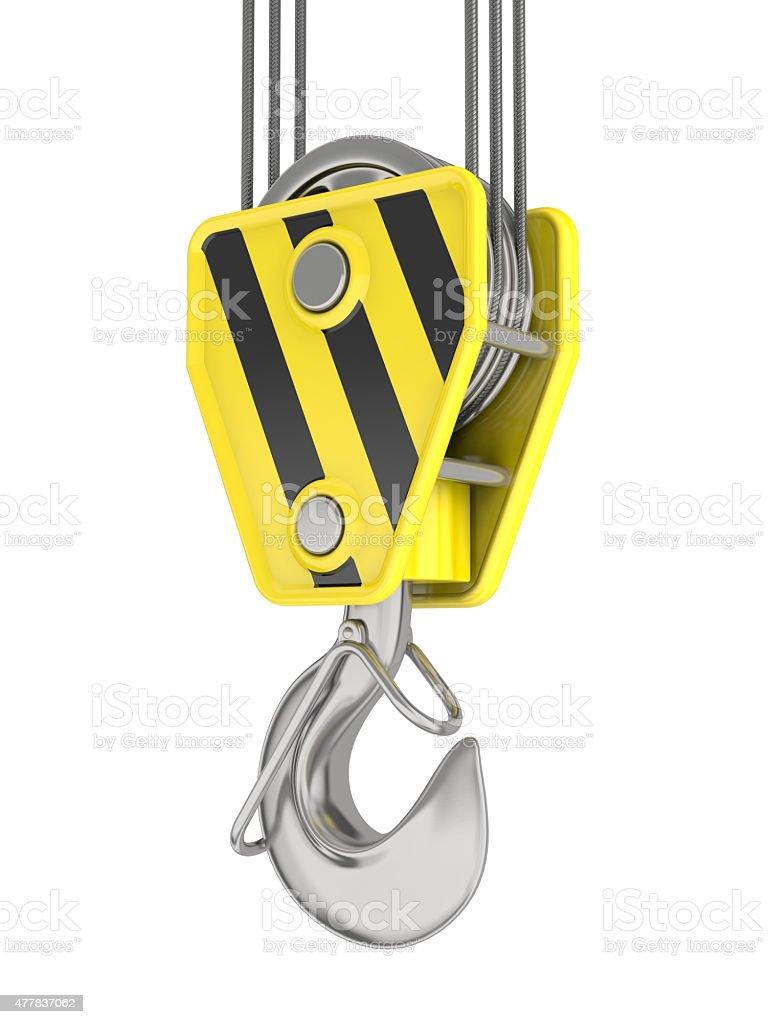 Crane hook isolated on white. royalty-free stock photo