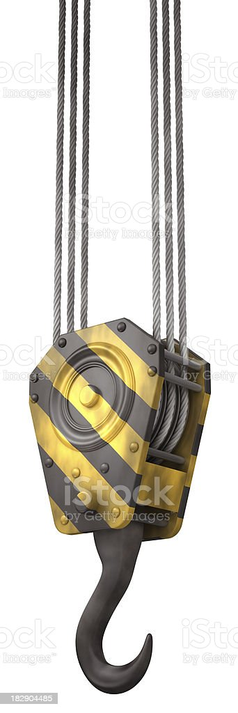 Crane hook stock photo