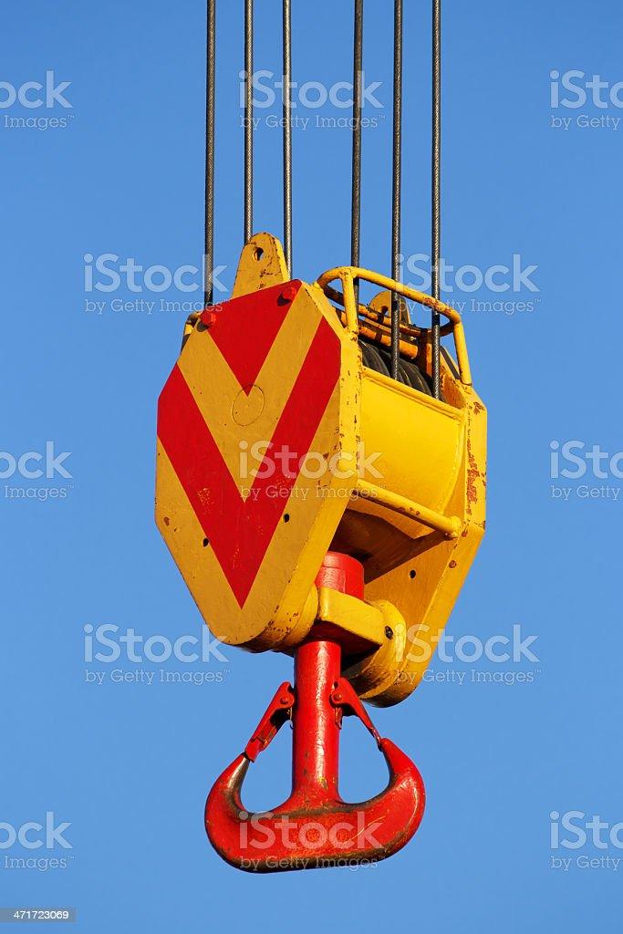 Crane hook royalty-free stock photo