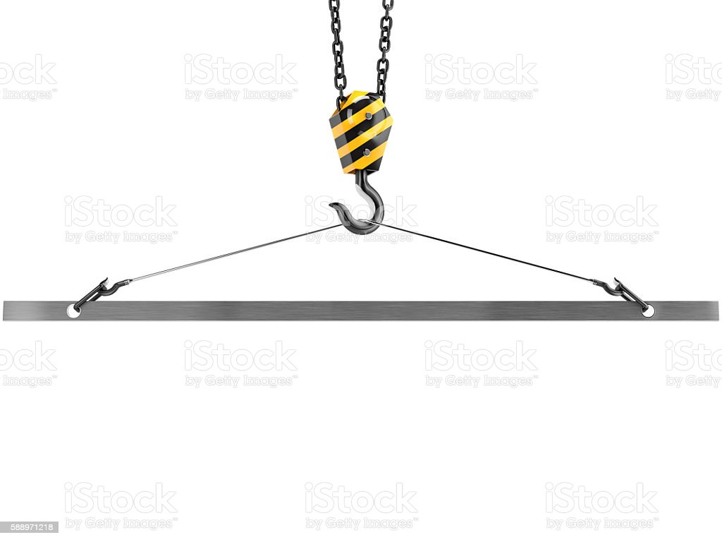 Crane hook with emptiness in the clamp stock photo