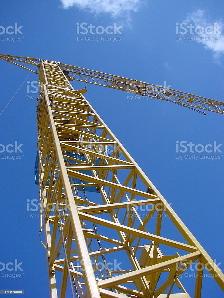 Crane  in Blue Sky stock photo