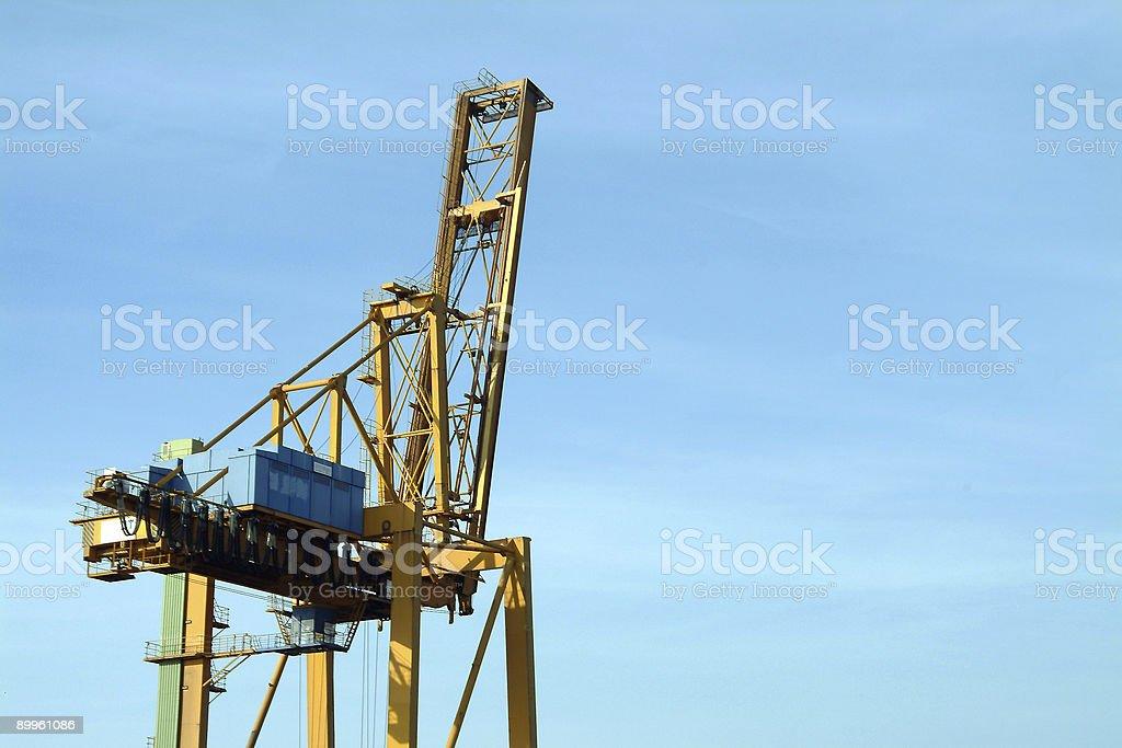 Crane in harbor royalty-free stock photo