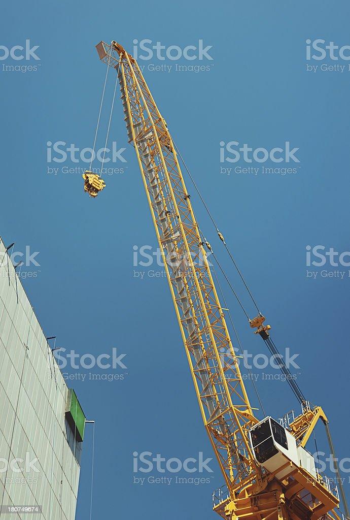 Crane in Sky royalty-free stock photo