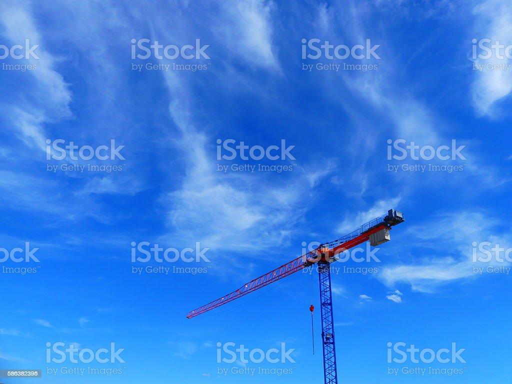 crane in sky stock photo