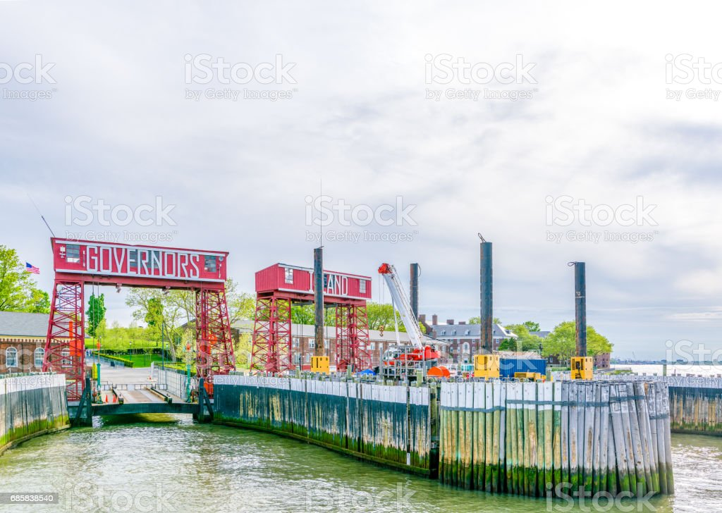 Crane in the New York City stock photo