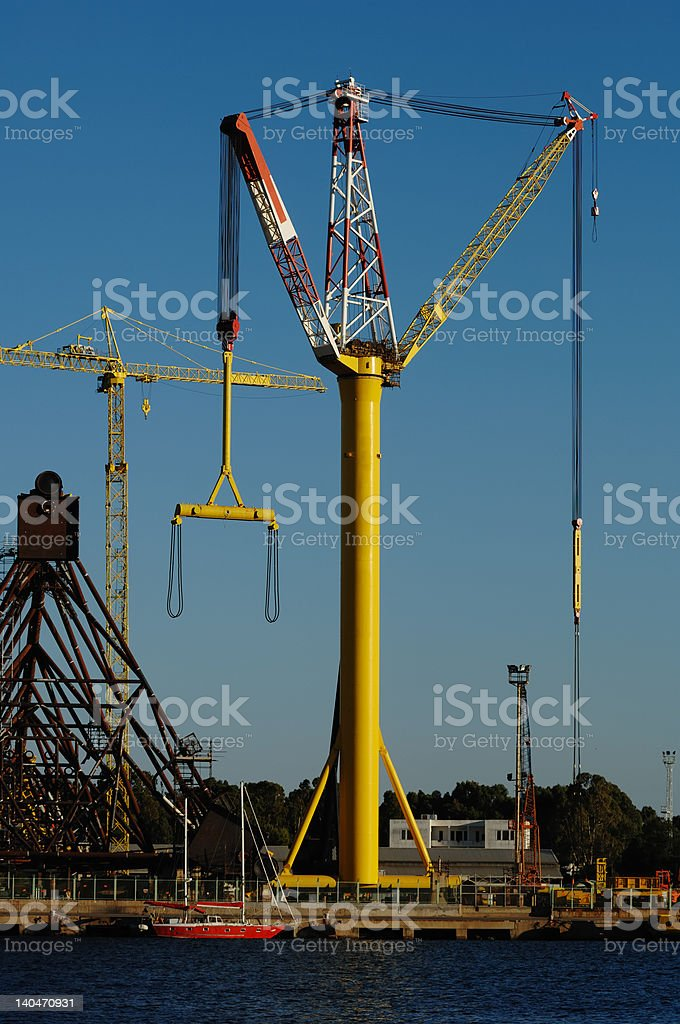 Crane in the Port royalty-free stock photo