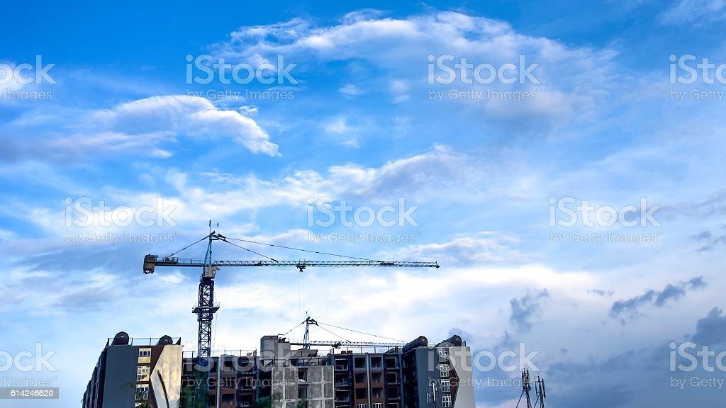 Crane isolated on nice sky royalty-free stock photo