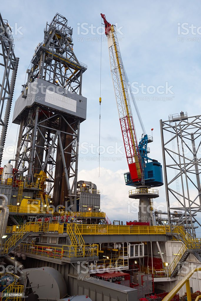 crane lifting equipment stock photo