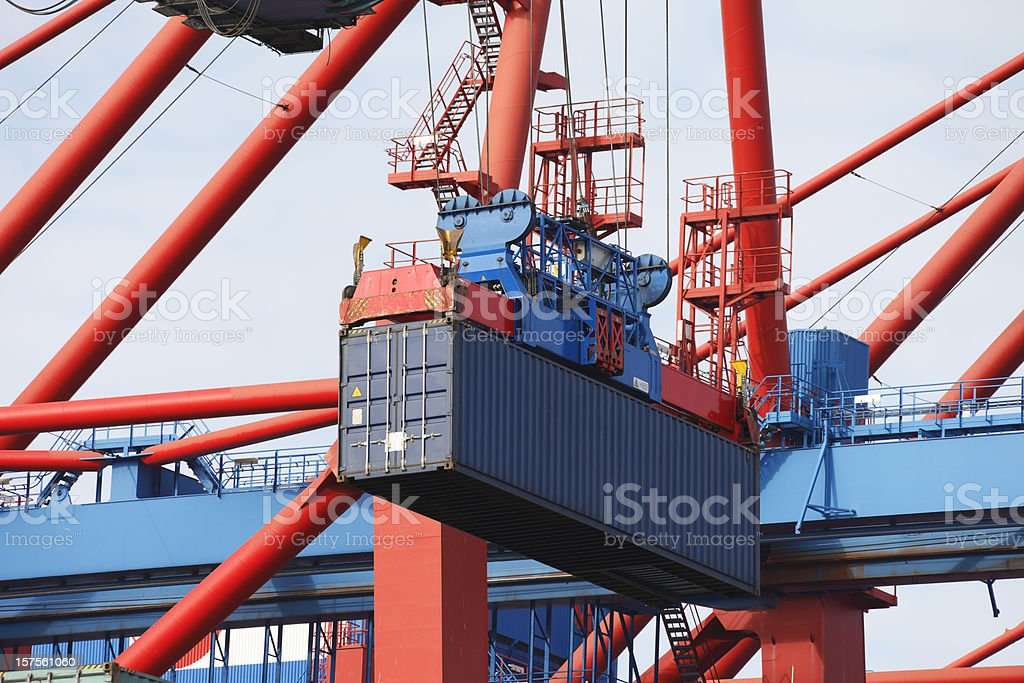 Crane Loading Cargo Container royalty-free stock photo
