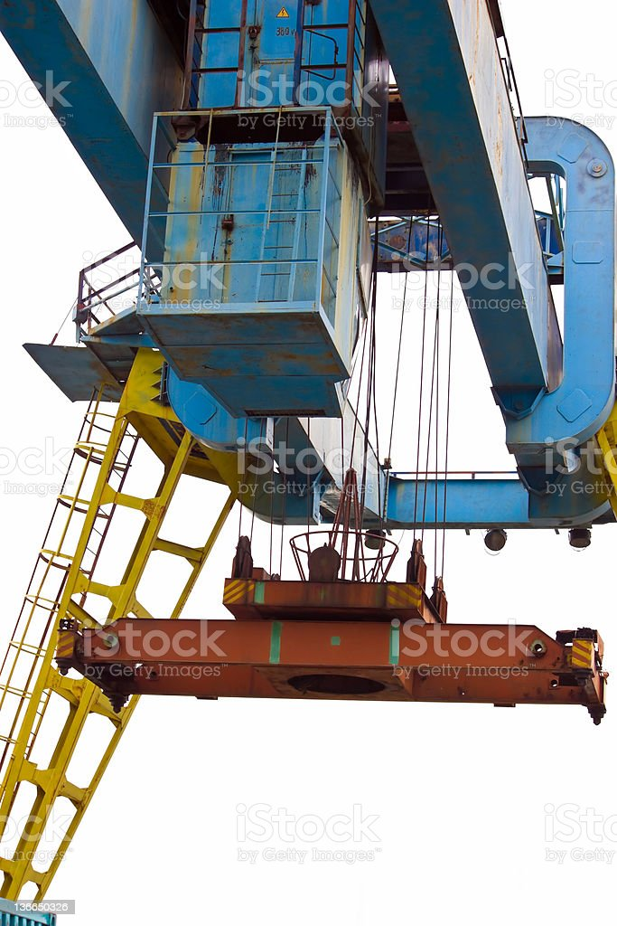 crane loading royalty-free stock photo