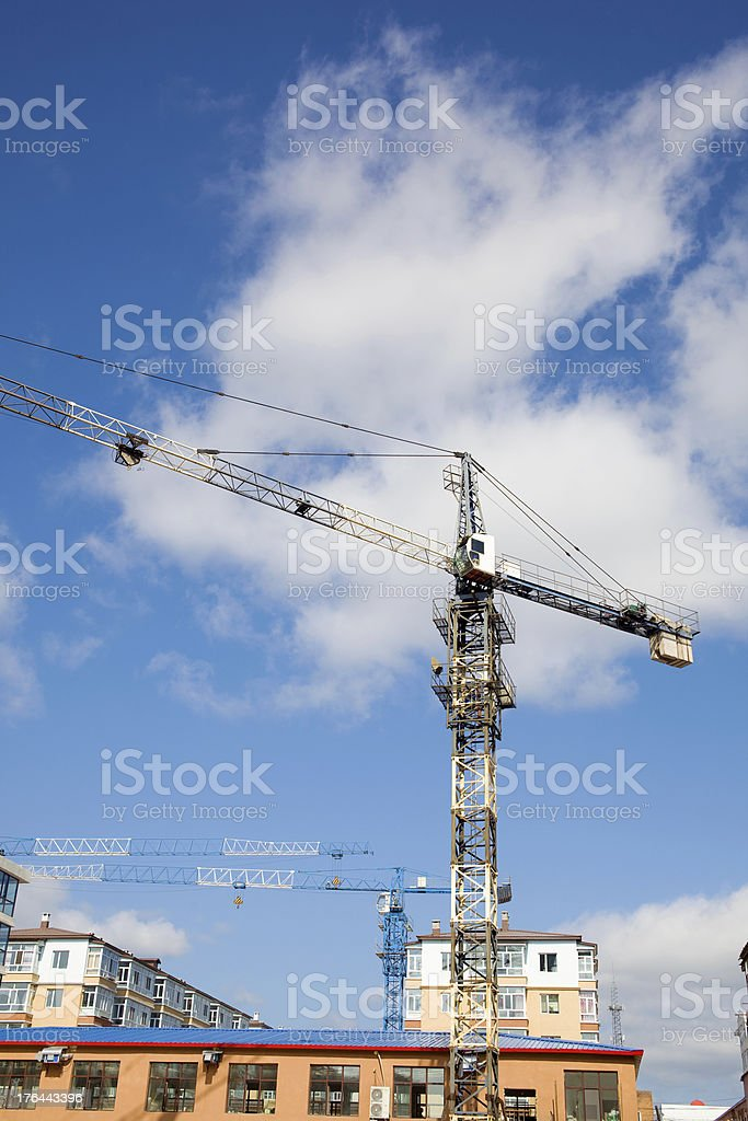crane machine royalty-free stock photo