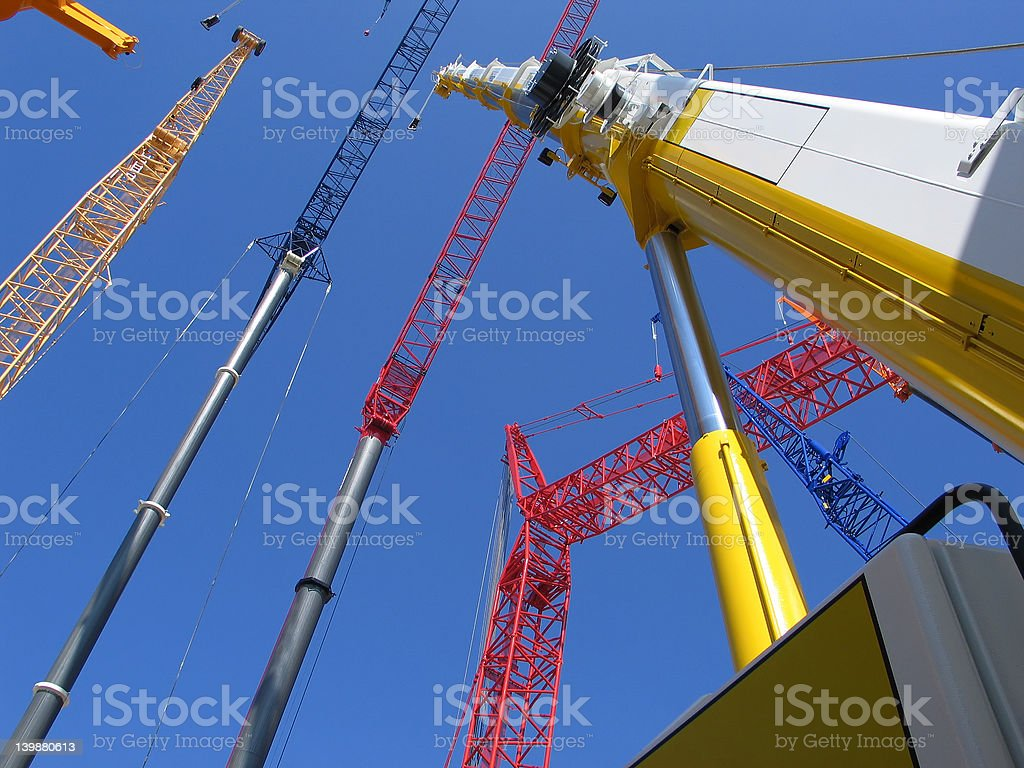 Crane Meeting 3 royalty-free stock photo