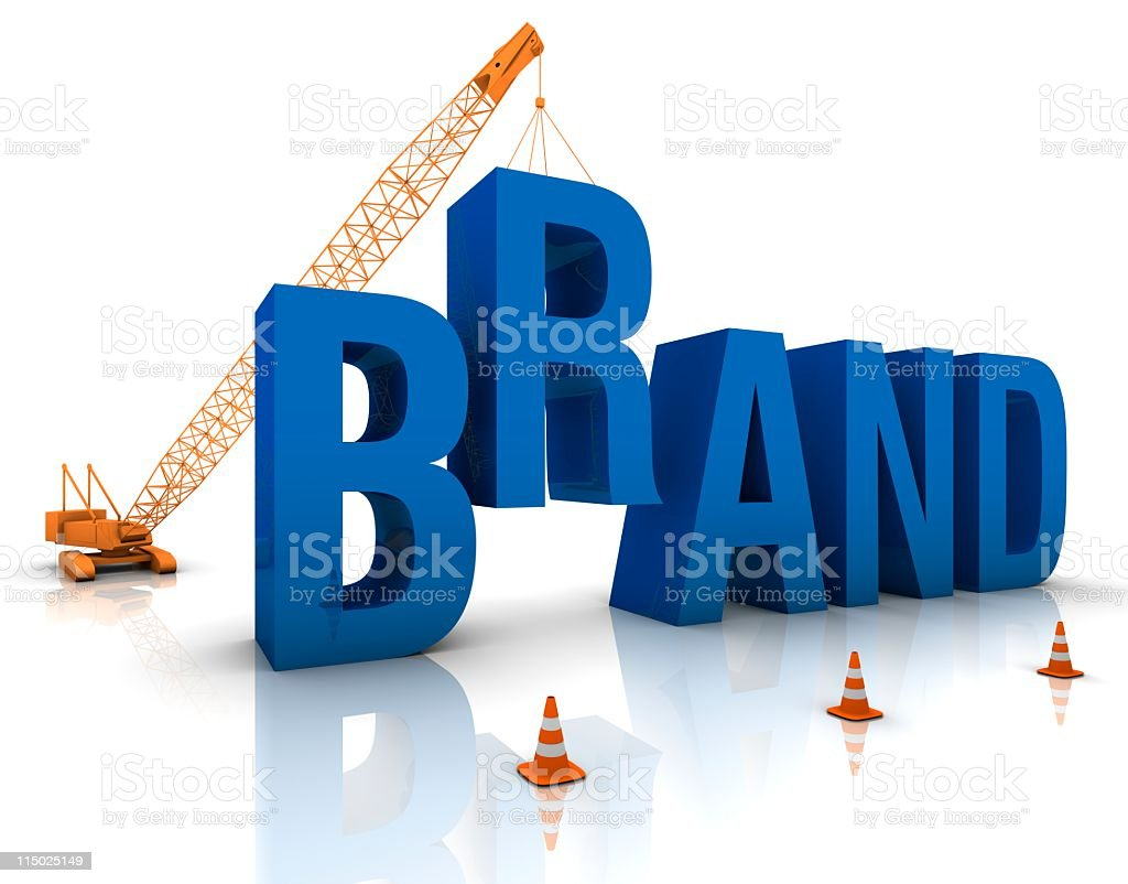 A crane metaphorically developing a brand royalty-free stock photo