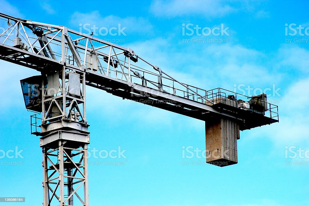 Crane on building site. royalty-free stock photo