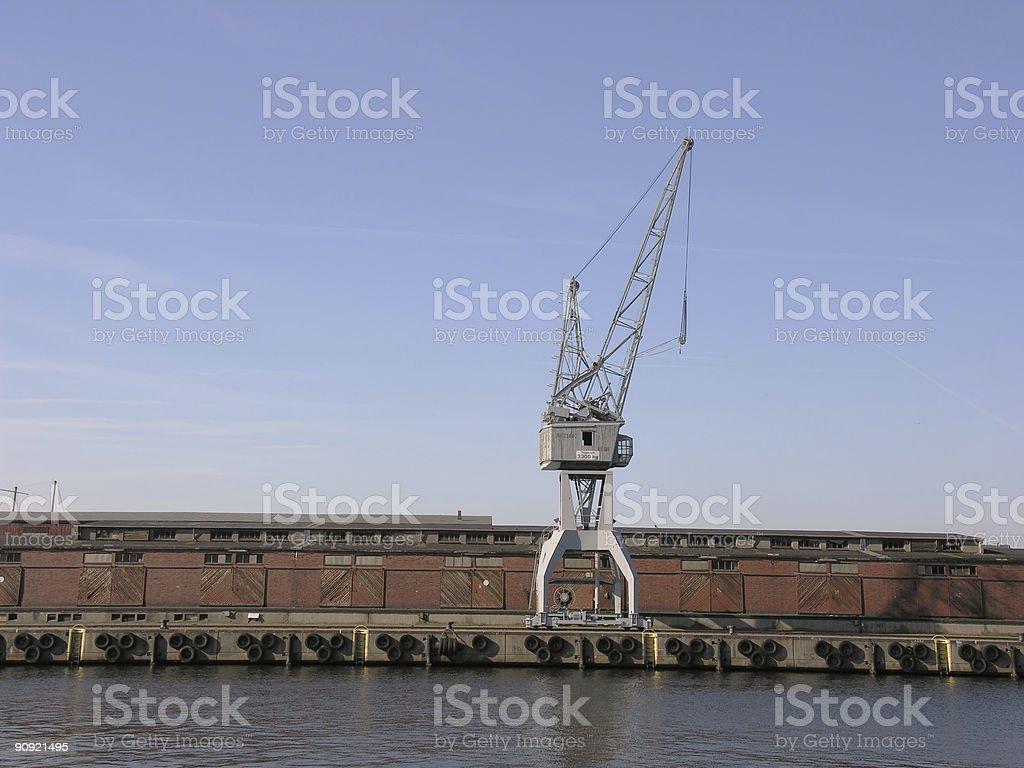 Crane on Harbor royalty-free stock photo