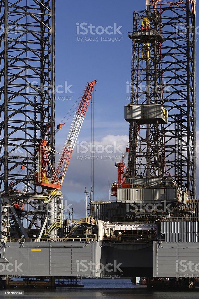 Crane on Oil Platform royalty-free stock photo