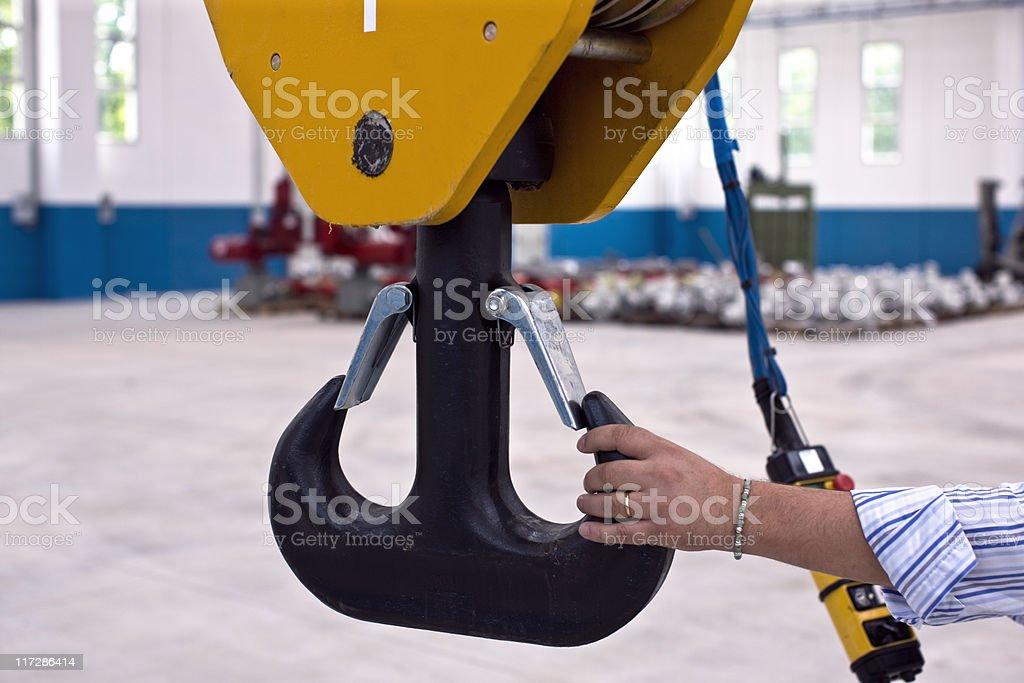 Crane Operator royalty-free stock photo
