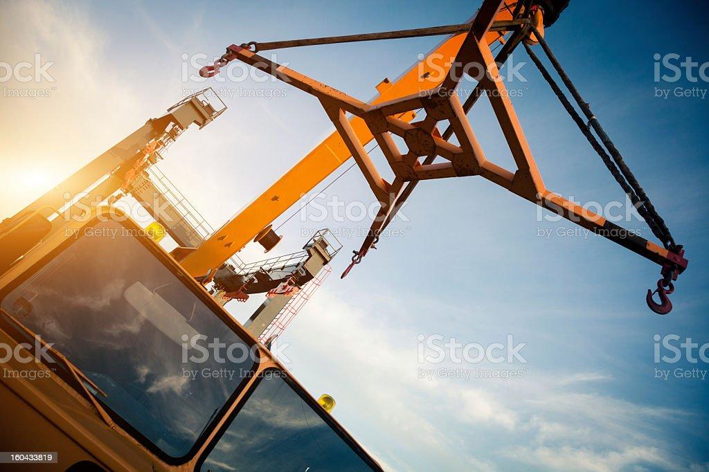 Crane truck royalty-free stock photo