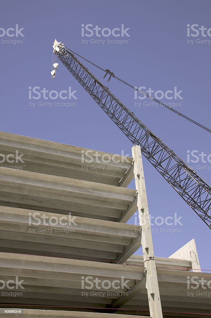 Crane -- vetical royalty-free stock photo