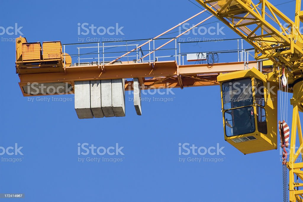 Crane weights royalty-free stock photo