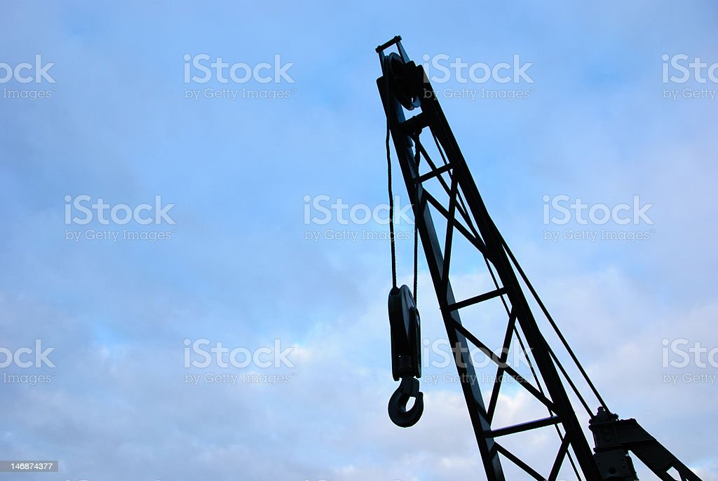 Crane with a big hook royalty-free stock photo