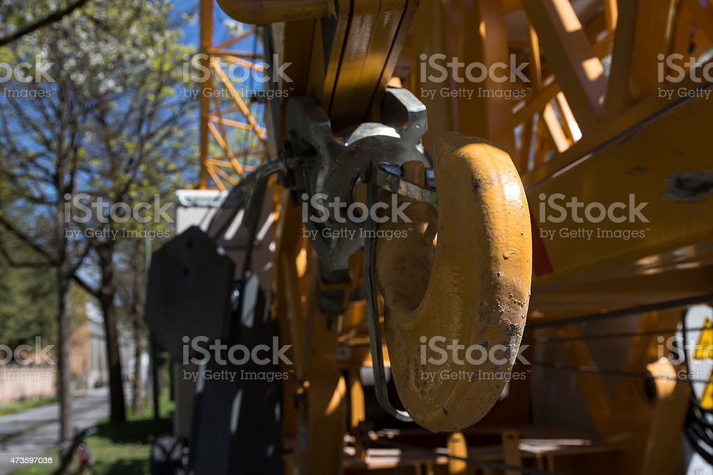 Crane with a hook royalty-free stock photo