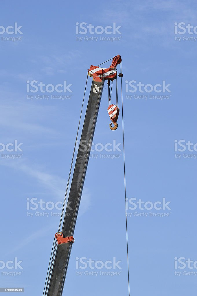 crane with blue sky royalty-free stock photo