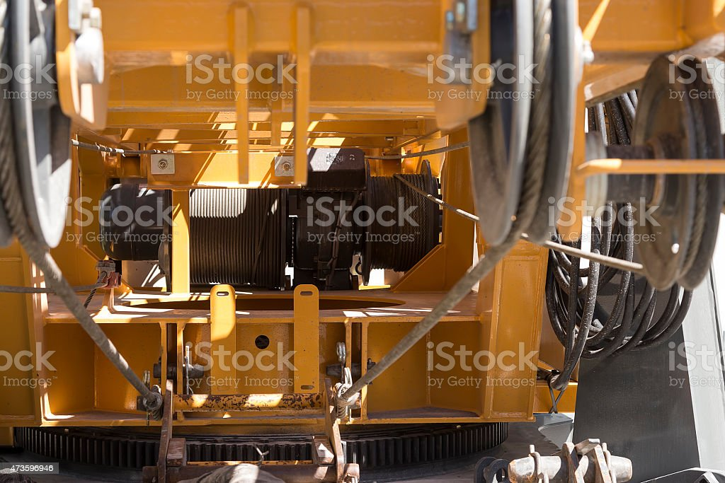 Crane with wire royalty-free stock photo