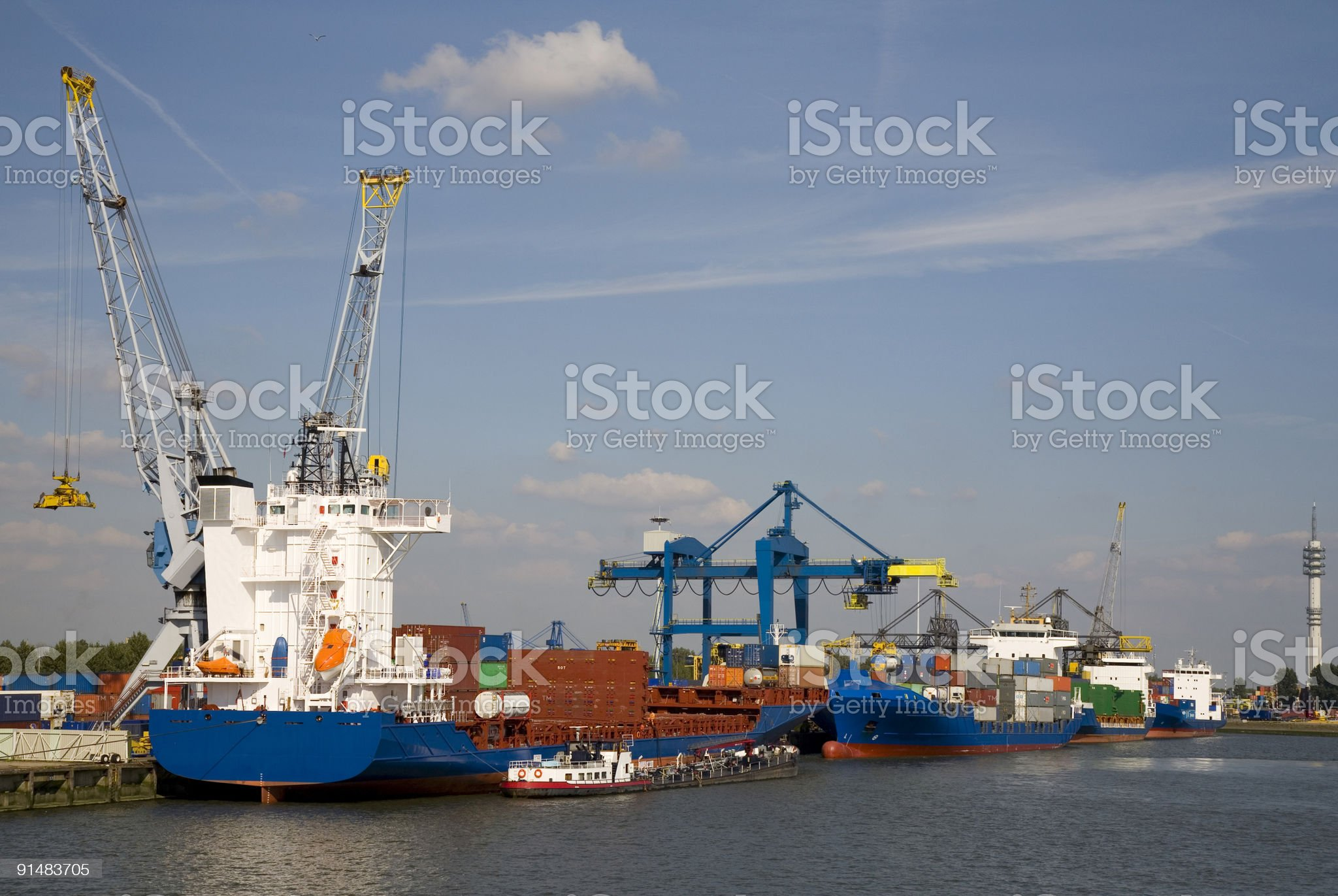 Cranes and carriers 13 royalty-free stock photo