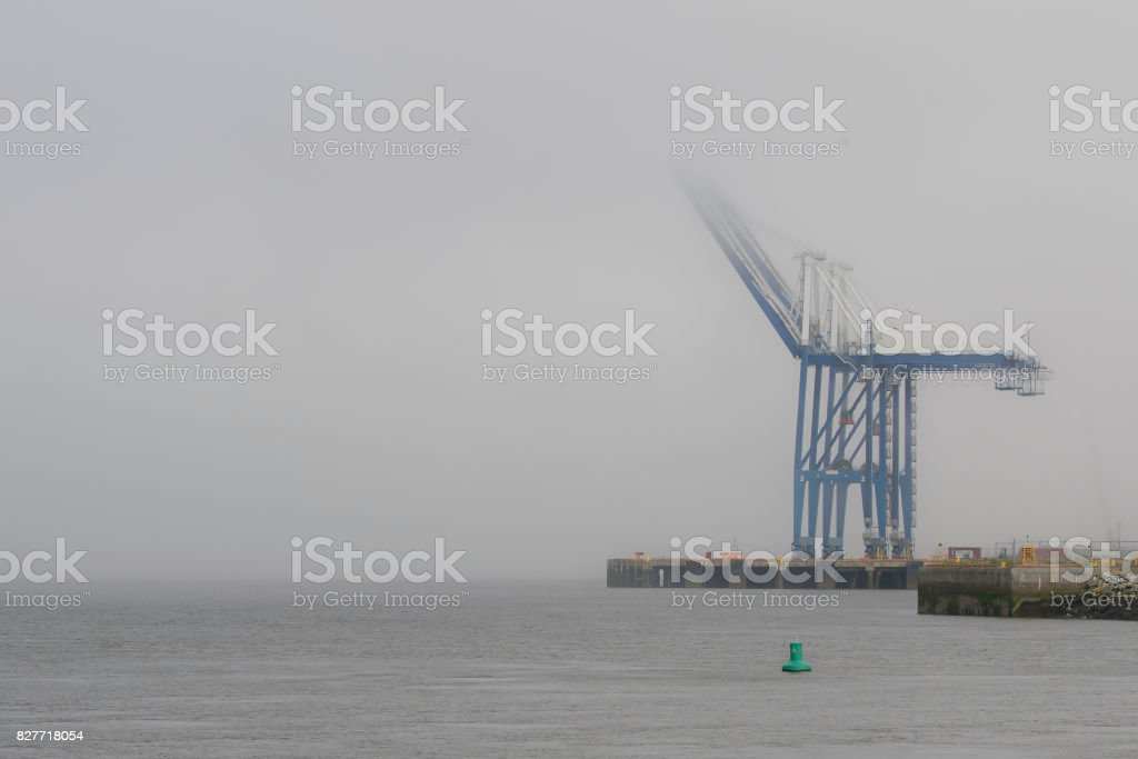 Cranes At A Port stock photo