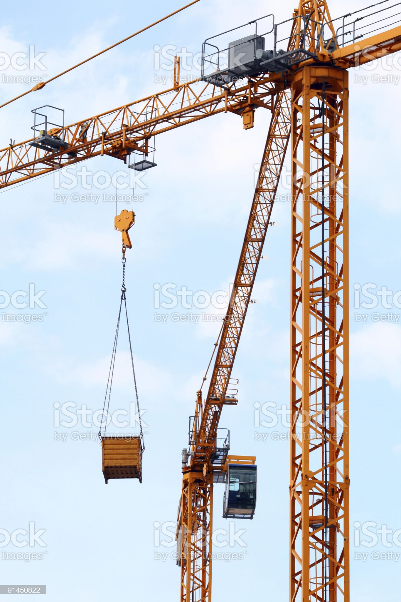 Cranes at the construction site royalty-free stock photo