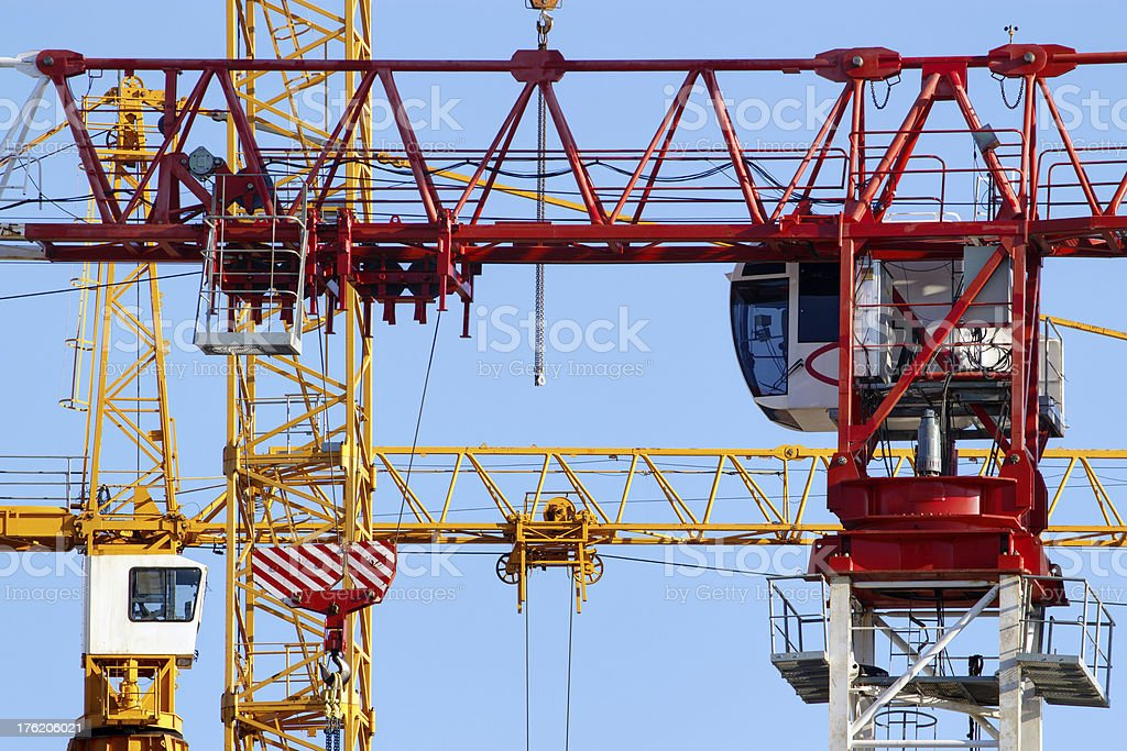 Cranes closeup royalty-free stock photo