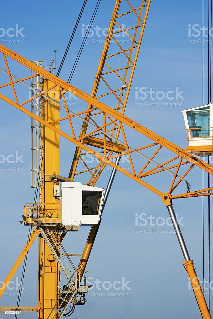 Cranes in Piombino harbour. royalty-free stock photo