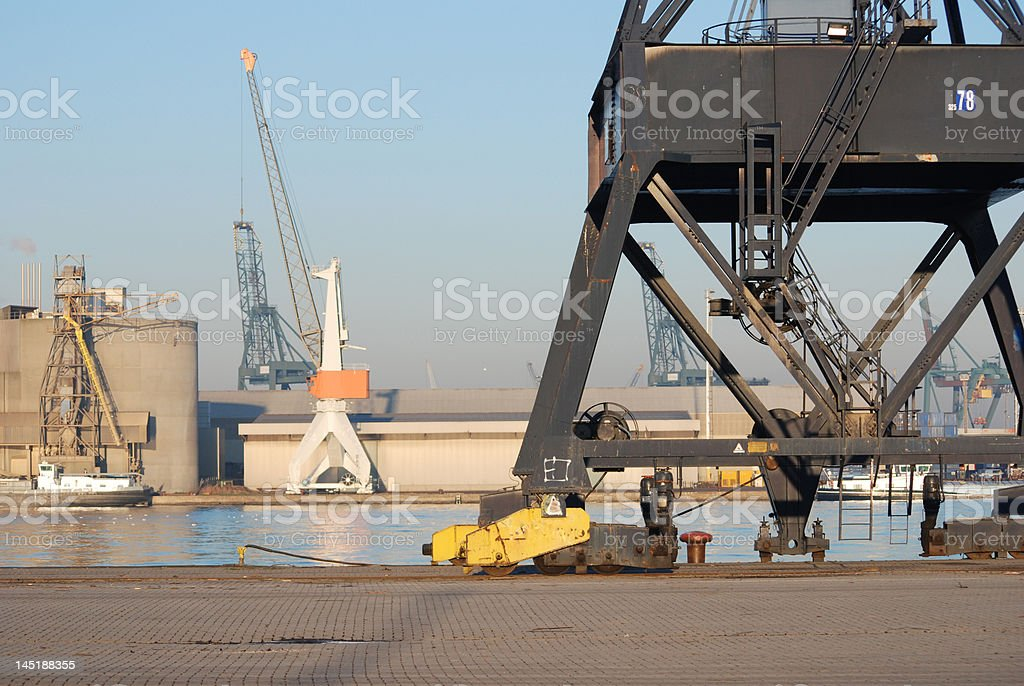 Cranes in the port royalty-free stock photo