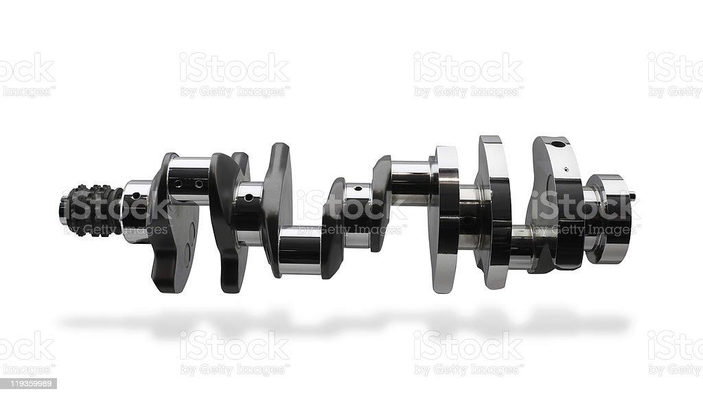 Crankshaft, part of internal combustion engine stock photo