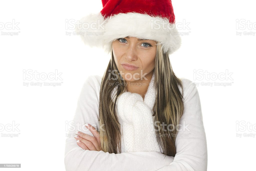 cranky for the holidays stock photo