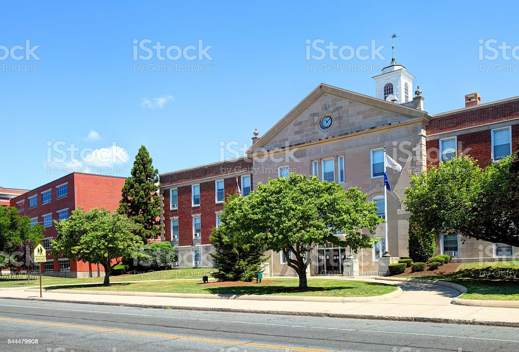 Cranston, Rhode Island City Hall stock photo