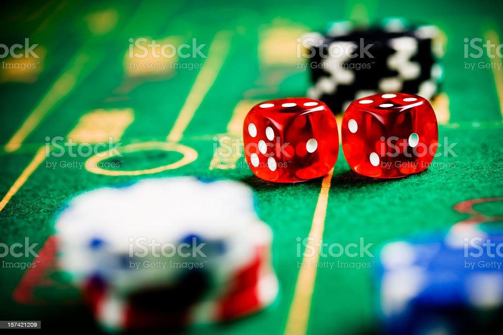 craps 7 on gamble table royalty-free stock photo