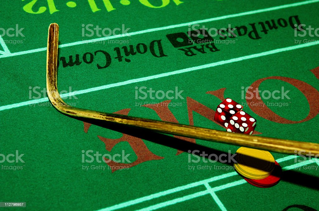 Craps Casino Stick royalty-free stock photo