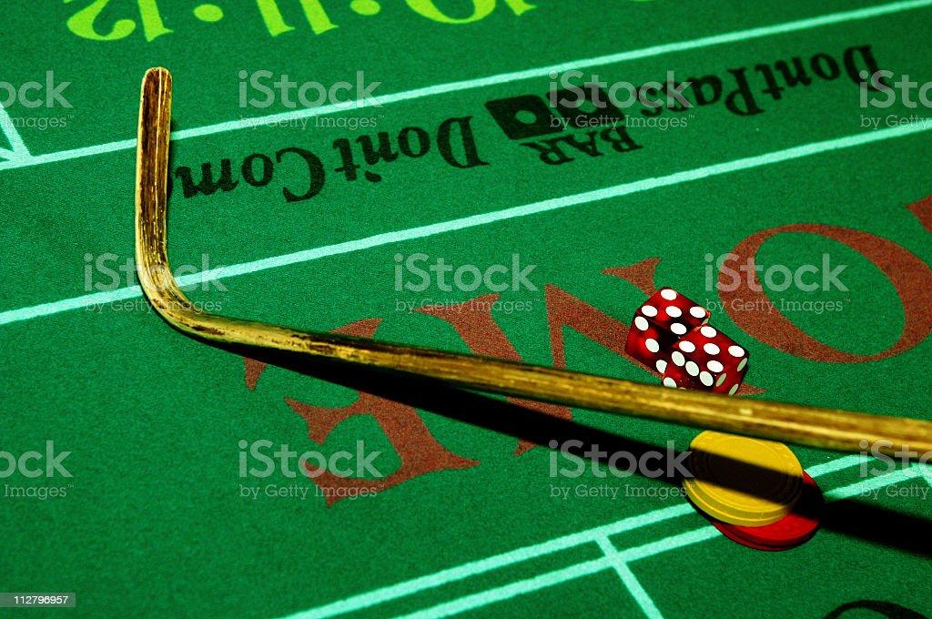 Craps Casino Stick stock photo