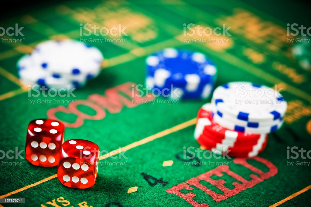 craps chips background stock photo