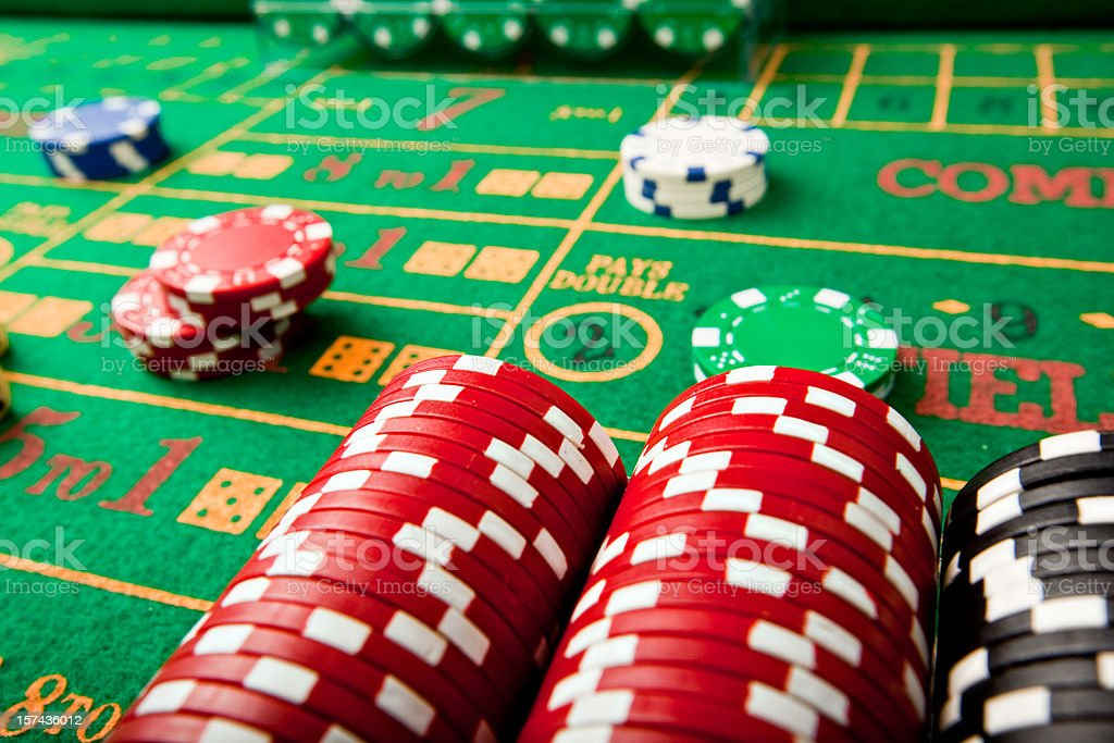 craps gambling red stacks royalty-free stock photo