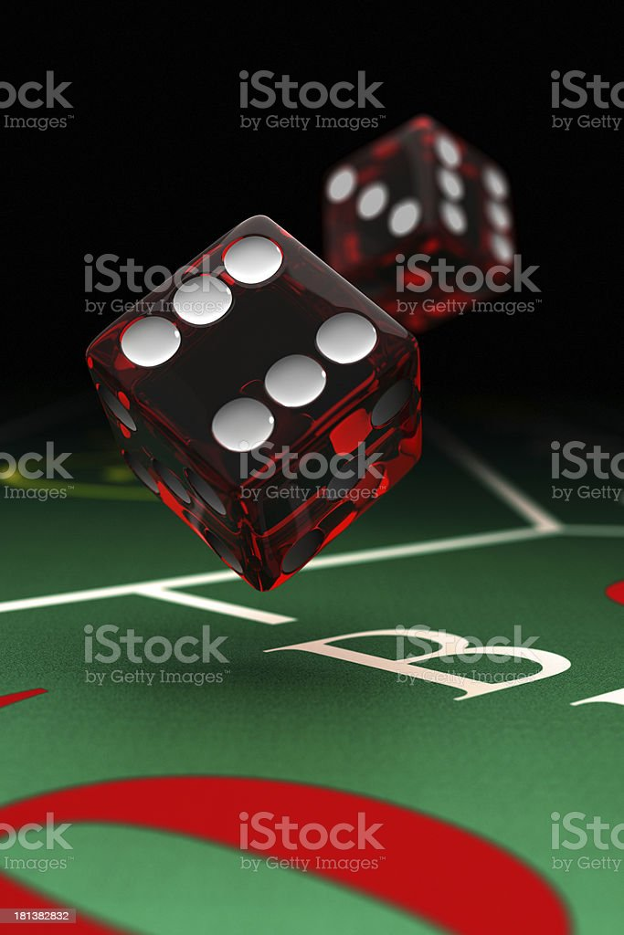 Craps dice stock photo