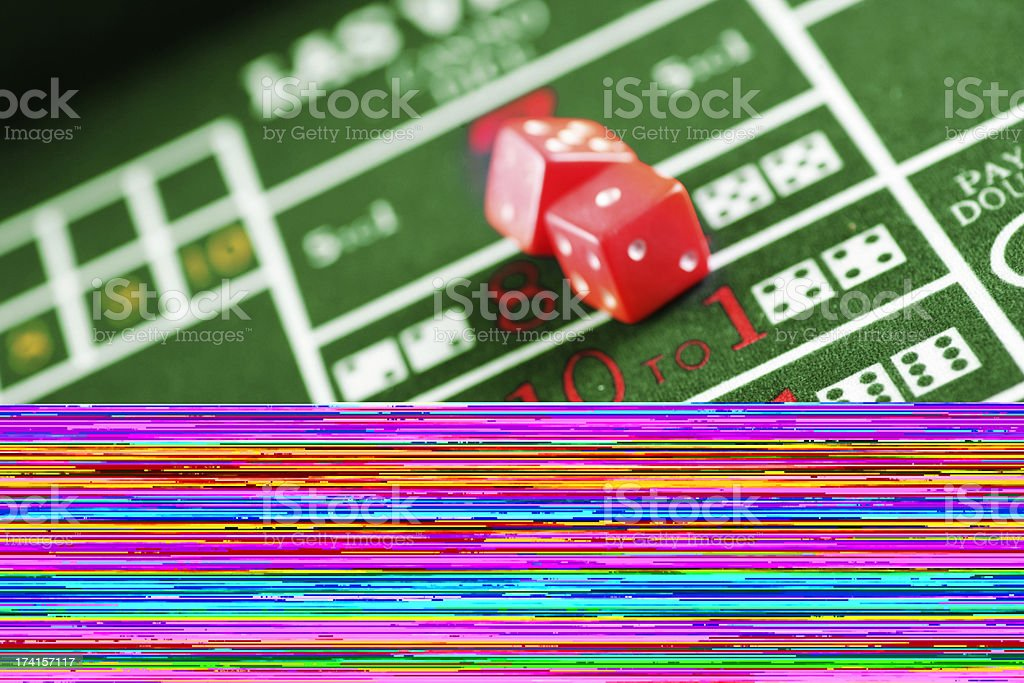 Craps table royalty-free stock photo