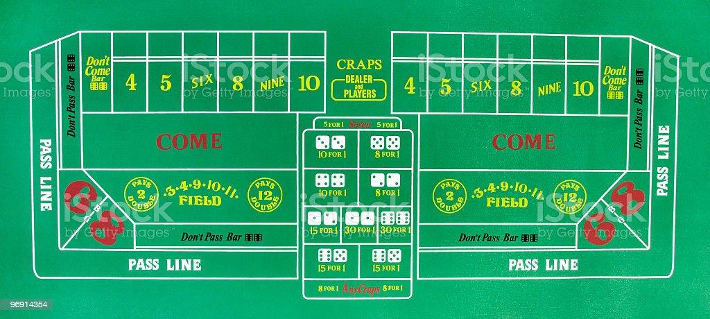 Craps Table stock photo