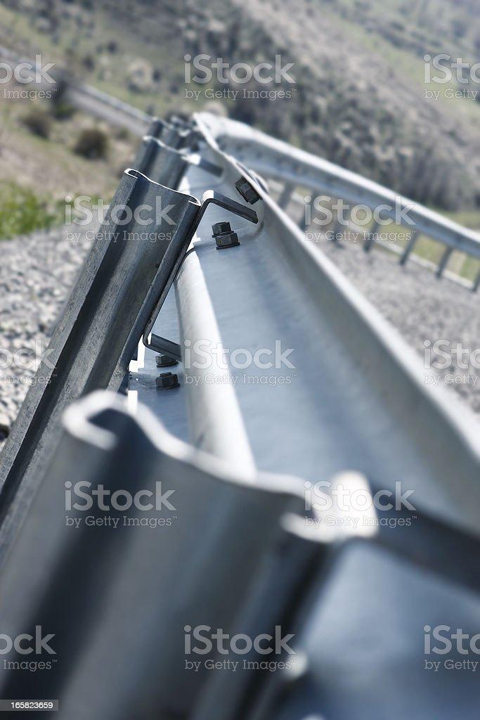 crash barrier detail stock photo