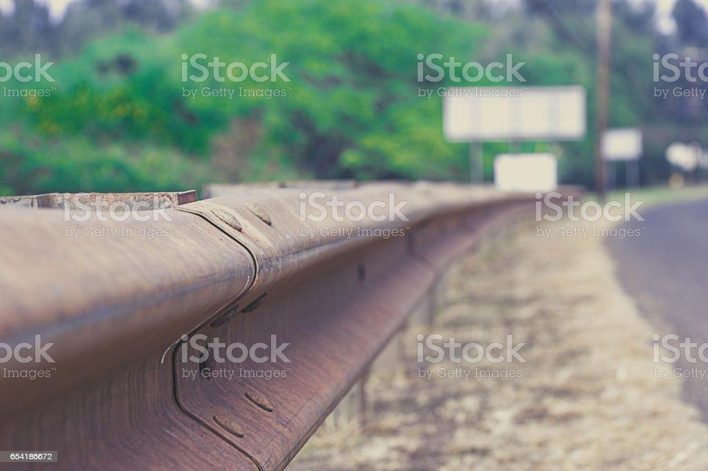 Crash barrier stock photo