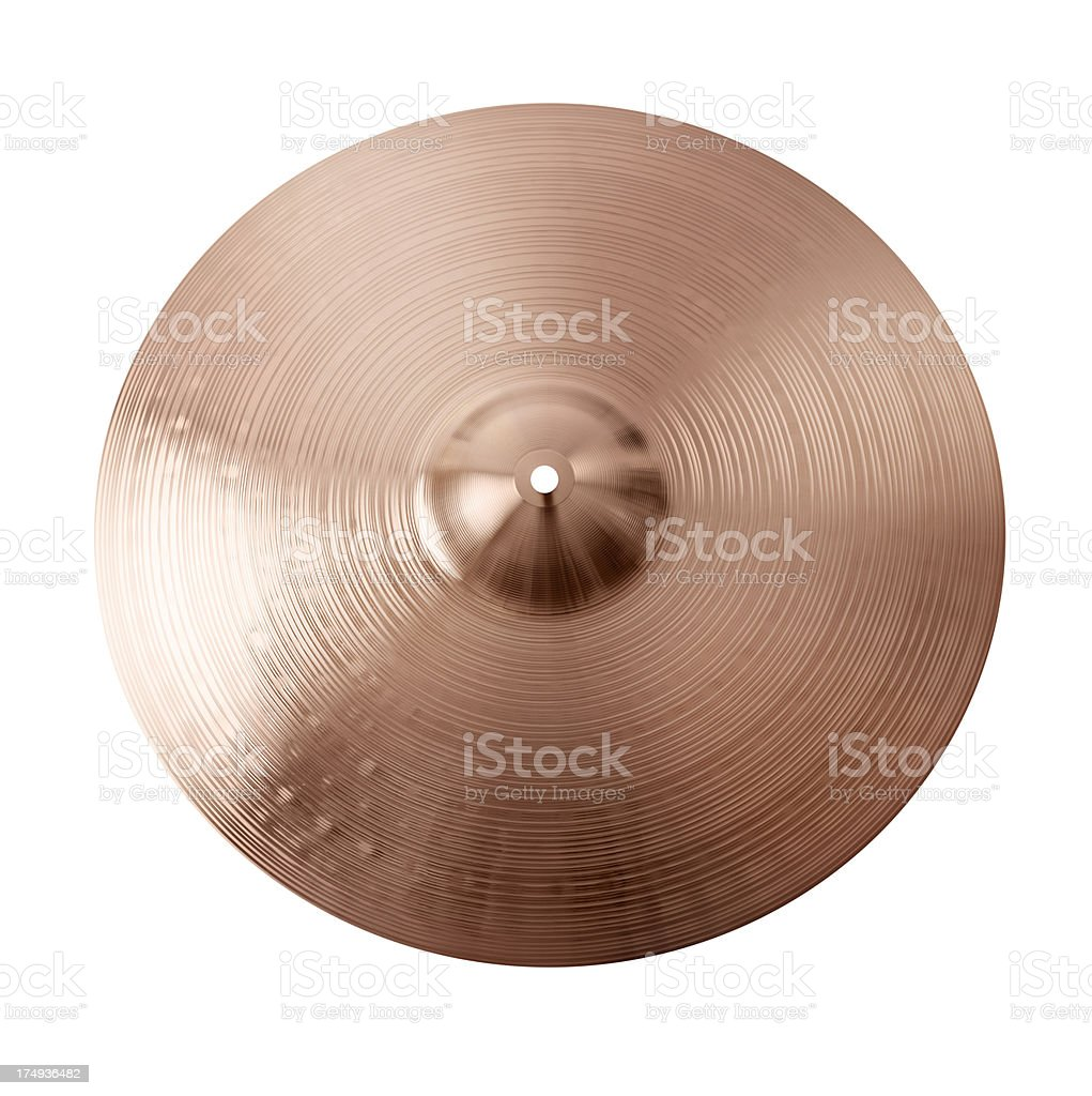 Crash Cymbal top view stock photo