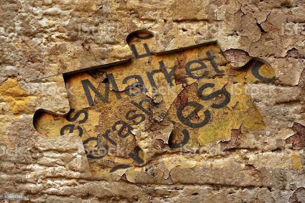 Crash market stock photo
