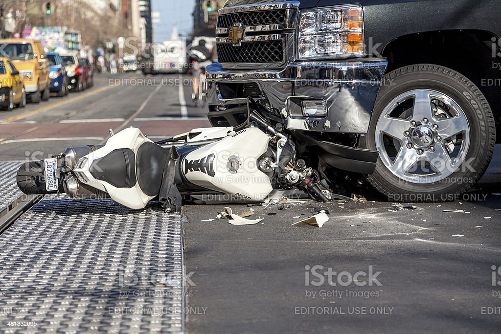Crash stock photo